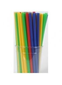 Szívószál hosszú egyenes színes 500db/csomag