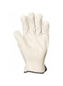 Marhahasíték bőrkesztyű , szürke , bőr tenyér és kézhát 8-as