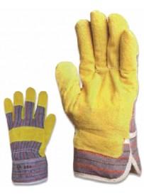 Marhahasíték rakodókesztyű tenyérbéléssel sárga