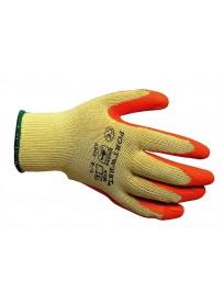 Portwest A100 latex mártott kesztyű narancs  L