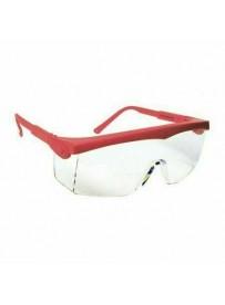 Pivolux piros védőszemüveg víztiszta lencsével, állítható
