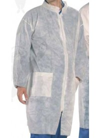 Látogatóköpeny polipropilén, cipzáros, zsebekkel XL-es